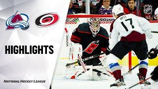 NHL Highlights | Avalanche @ Hurricanes 02/28/20
