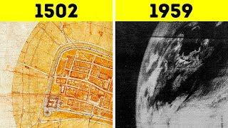 Leonardo da Vinci Erstellte Einen Satellitenkarte Ohne Die Nutzung Eines Satelliten