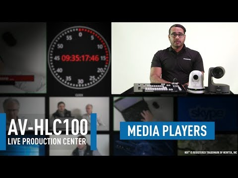 AV-HLC100 Live Production Center: Built-in Media Players (Clips|Stills)