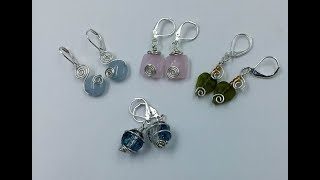 Simple Wire Spiral Earring Tutorial