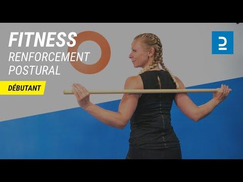 Renforcement postural avec bâton