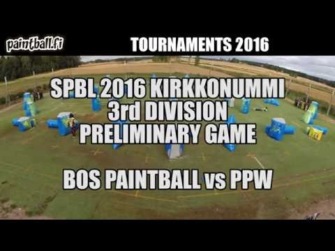 BOS Paintball vs PPW - SPBL2016 Kirkkonummi
