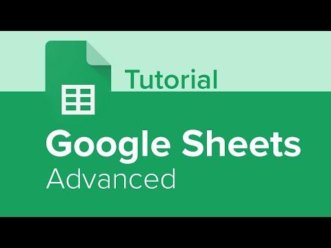 Google Sheets Advanced Tutorial