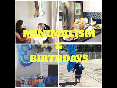 MINIMALIST BIRTHDAY PARTIES || ON A BUDGET