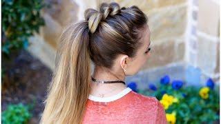 Pull-Thru Ponytail   Cute Girls Hairstyles