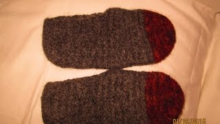 Make Cozy Felted Wool Slippers - DIY Crafts - Guidecentral