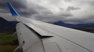 Horror Landeanflug Landung Crosswind Seitenwind Salzburg Sturm durchstarten