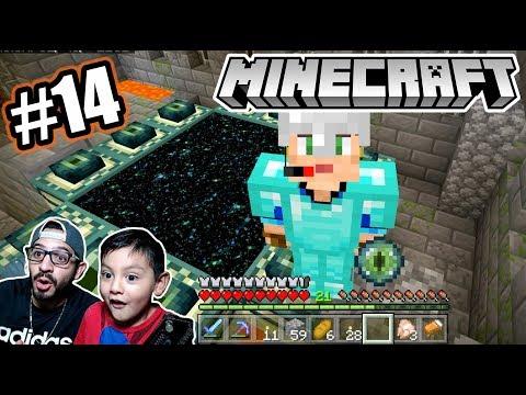 Encontramos el Portal al END de Minecraft | El Dragón esta Cerca | Juegos Karim Juega