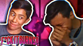 This Burns! | Challenge With Johnny