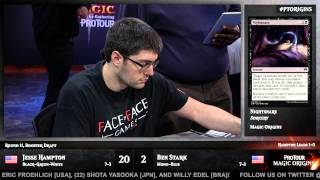 Pro Tour Magic Origins Round 11 (Draft): Jesse Hampton vs. Ben Stark