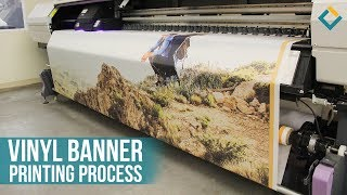 Vinyl Banner printing process With Mimaki inkjet Printer