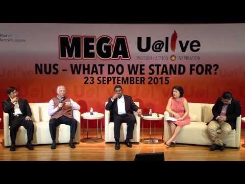 2015 Sep Mega U@live featuring Amb Gopinath Pillai, Mr Johnny Tan, Dr Gillian Koh and Mr Soh Yi Da