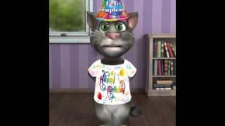Gato cantando Feliz cumpleaños