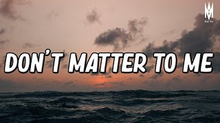 Drake - Don't Matter To Me ft. Michael Jackson (Lyrics Video) || KidTravisMusic