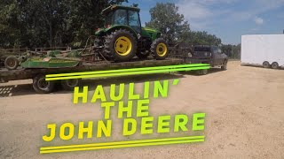 HAULIN' THE JOHN DEERE WITH THE DELETED DODGE 😲😲😲