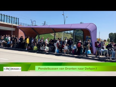 VIDEO | Beelden van de drukte op treinstation Dronten in verband met Defqon.1