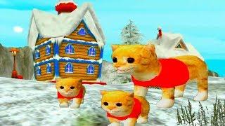 Симулятор котенка встреча с Дед Морозом ЗИМНЯЯ ЛОКАЦИЯ мультик для детей #УШАСТИК KIDS