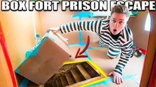 24 HOUR BOX FORT PRISON ESCAPE ROOM!! 📦🚔 Secret UNDERGROUND Tunnel, SPY GADGETS & More! - Video Youtube