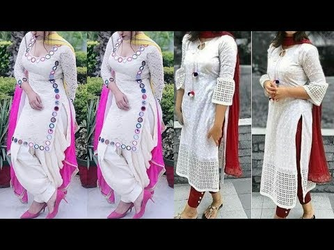 White Kurti Designs 2020 | White Kurti Kurta Mix Match Designs And Combination