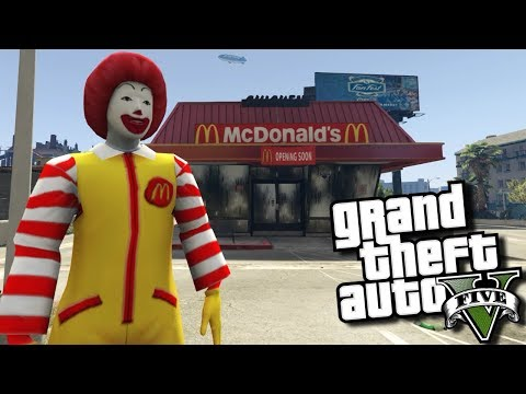 GTA 5 Mods - MCDONALD'S