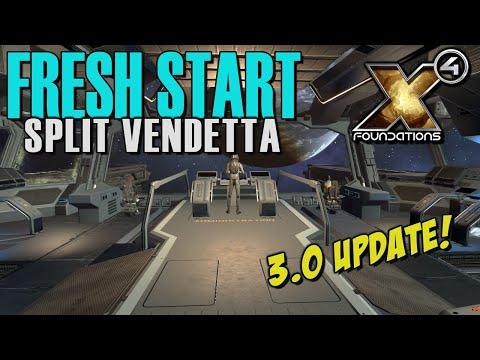 MASSIVE 3.0 UPDATE! FRESH START - Split Vendetta Gameplay - X4: Foundations Part 1