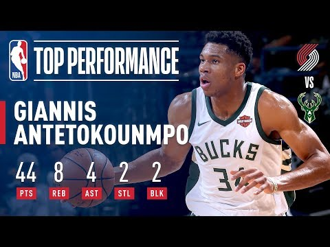 Giannis Antetokounmpo Scores CAREER HIGH 44 Points vs. Blazers | October 21, 2017