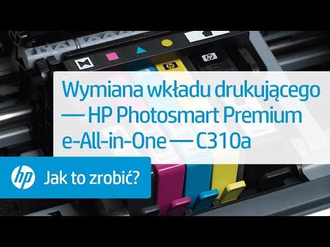 Wymiana wkładu drukującego — HP Photosmart Premium e-All-in-One — C310a