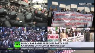 Dutch anti ISLAM politician Wilders shows Mohammed s.a.w cartoons on national TV