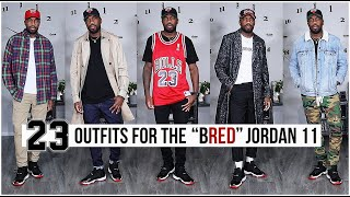 23 OUTFIT IDEAS FOR THE AIR JORDAN 11 BRED 2019 | Mens Fashion & Street Style | I AM RIO P.
