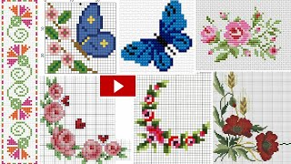 Adorable & Unique Cross Stitch/Dosuti Corner Border Design || New Cross Stitch Corner Embroidery