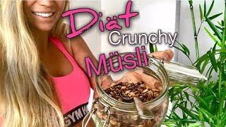 REZEPT: KALORIENARME Crunchy Müsli KEIN FETT/ZUCKER nötig !- schnell - einfach - gesund - lecker