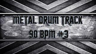 Slow Extreme Metal Drum Track 90 BPM (HQ,HD)