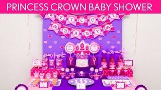 Pink Princess Crown Birthday Party Ideas // Pink Princess Crown - S37