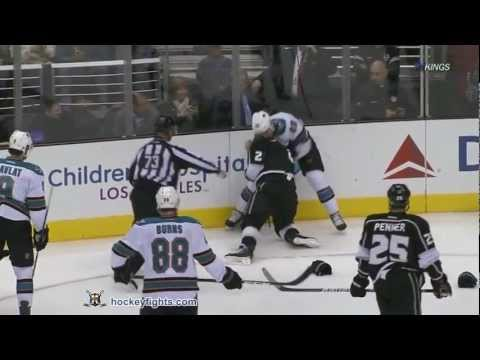 Matt Greene vs. Ryane Clowe