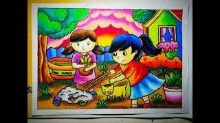 Belajar Menggambar Dan Mewarnai Orang Dengan Crayon ฟรวดโอ