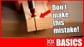 HOW TO DRIVE SCREWS (without splitting wood!) | Woodworking BASICS