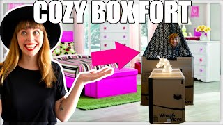 THE BEST COZY BOX FORT FOR GIRLS