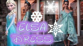 FROZEN Easy DIY No Sew Elsa Dress Tutorial.