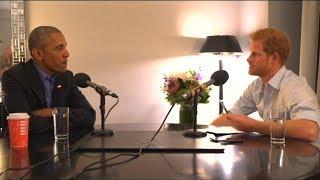 Prince Harry jokes with Barack Obama ahead of radio interview