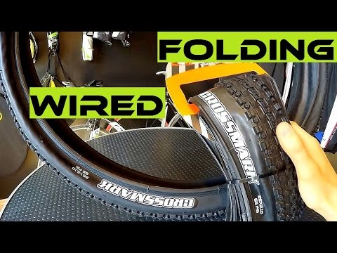 Expensive Folding vs Cheap Wired Bike Tire. Which One To Buy? Maxxis Crossmark.