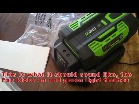 eGo Blower Battery Charging Problem Solved  - Red Flashing Charger