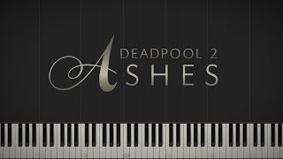 """Deadpool 2 - """"Ashes"""" (Celine Dion) \\ Synthesia Piano Tutorial"""