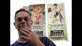GIL ELVGREN - Girly Pin Up Calendars - 1950s - Linen Backed