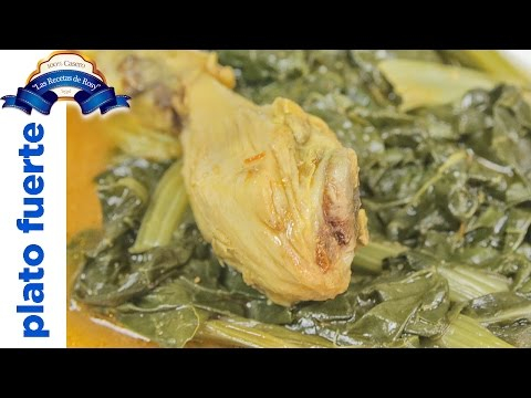 Pollo con acelga al curry 💜💜💜 Las Recetas de Rosy
