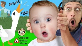 BAD MOUTH BIRD!  No Say Those WORDS! (FGTeeV plays Untitled Goose Game #1)