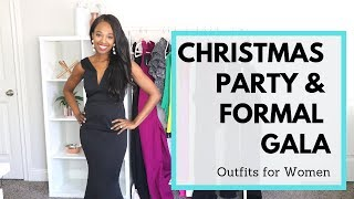 12 Christmas Party Outfits For Women | What To Wear To A Formal Gala