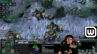 Starcraft 2 Missile Command - Unlimited Range Widow Mines