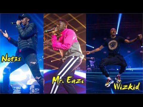 Wizkid | Mr. Eazi | Note3s @ Davido's 30 Billion Concert, London 2018