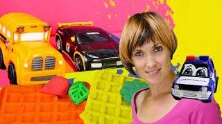 ДЕТСКИЙ САД 👶 #КапукиКануки: готовим вафли из #PlayDoh! 🚗 #Машинки #ВидеодляДетей