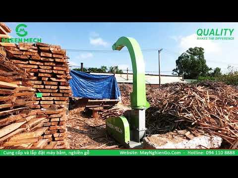 Lắp đặt máy băm dăm gỗ công suất 3 tấn/1 giờ đến KCN Hòa Khánh - Đà Nẵng